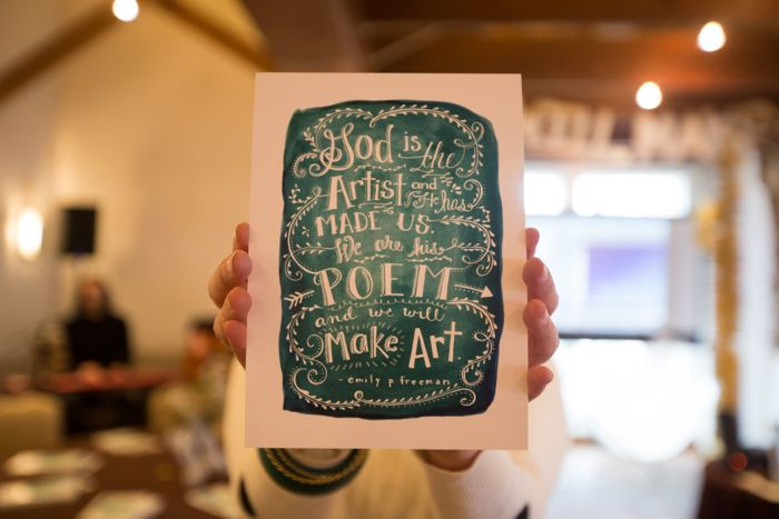 Emily Freeman's At the Barn event - November 2013 - We Will Make Art!