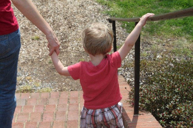 holding handrail