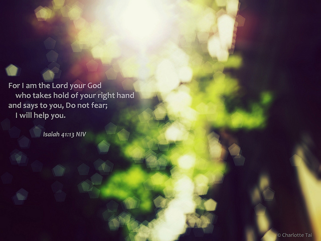 isaiah 41:13 Do not fear, I will help you.