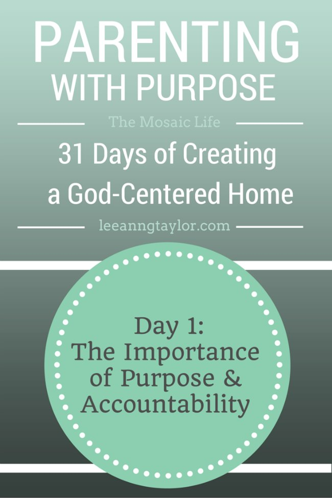 Parenting With Purpose - Day 1