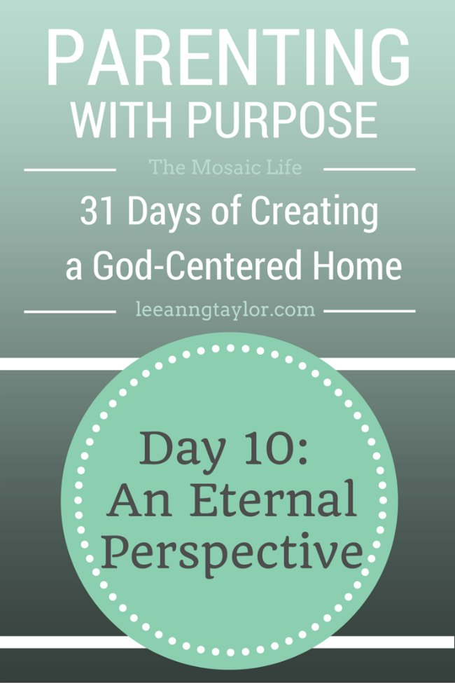 Parenting With Purpose - An Eternal Contribution