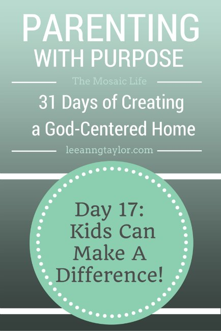 Parenting With Purpose - Kids Can Make a Difference