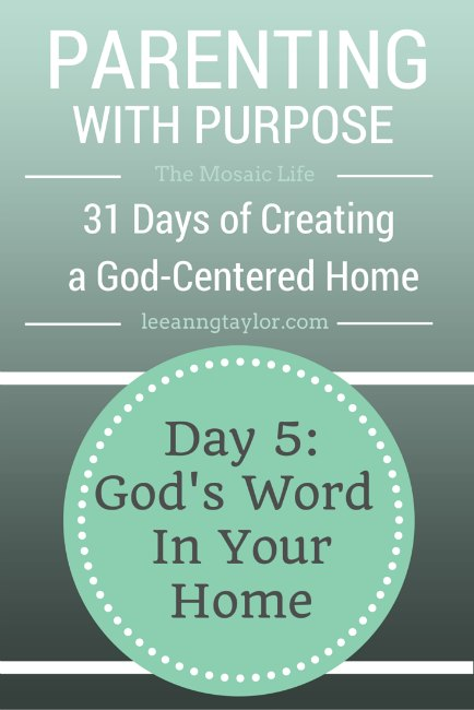 Parenting With Purpose - Day 5