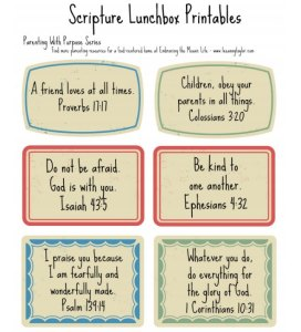 Scripture Lunchbox Printables