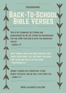 encouraging bible verses for back to school