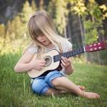 child playing guitar
