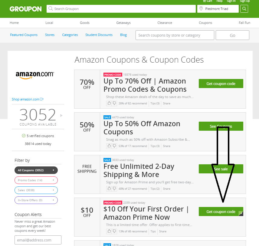 groupon coupons amazon
